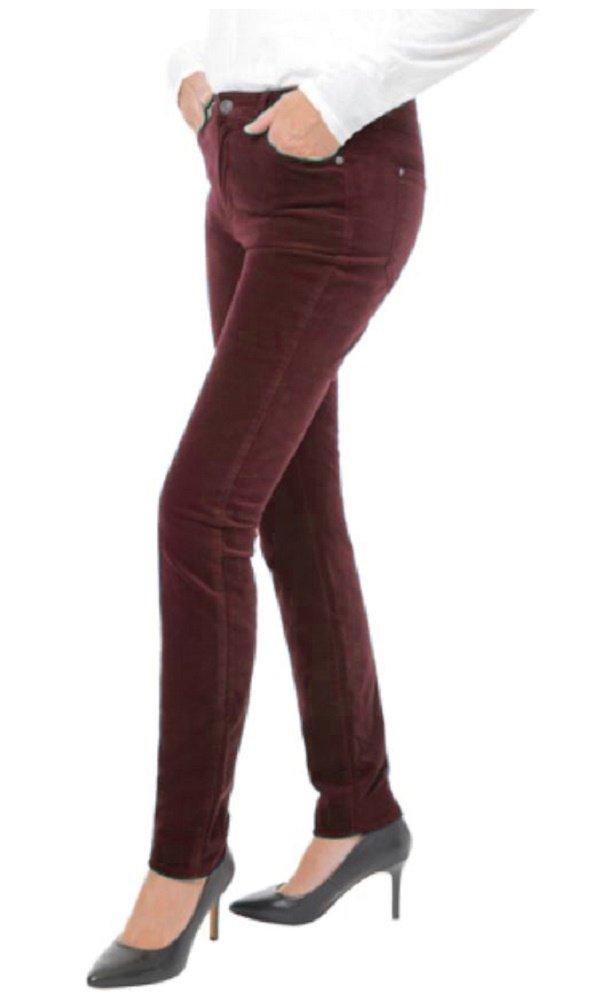 BUFFALO David Bitton Womens Velvet Stretch Skinny Pant (Merlot, 6/28)