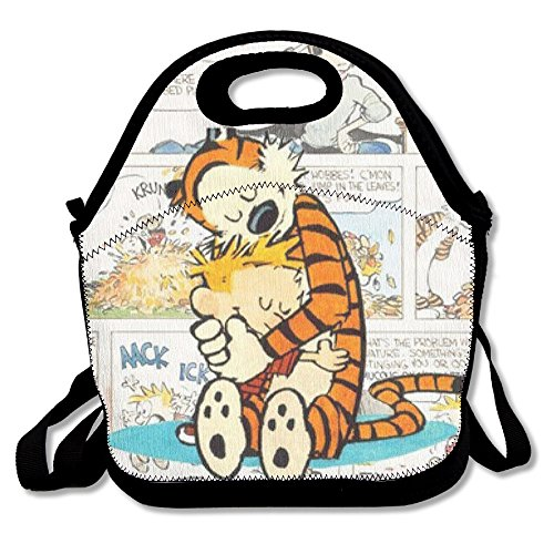 Hope Tree Fashion Custom Calvin And Hobbes Lunch Bag Lunch Box Thermal Insulated Tote Cooler Lunch Pouch Picnic Bag Lunch Tote, For School Work Office,gift For Women - Calvin Storage