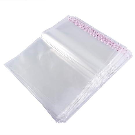 BESTOMZ Bolsas de Celofán Transparentes Autoadhesivas Bolsas para Regalos Caramelo Plastico 30x40cm 100 Unidades