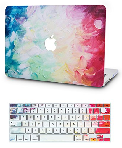 KEC MacBook Air 13 Inch Case with Keyboard Cover Plastic Hard Shell Rubberized A1369 / A1466 (Fantasy)