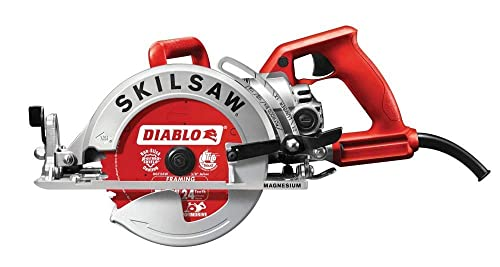 Skil SPT77WML-22 7-1 4 in. Lightweight Magnesium Worm Drive Circular Saw with Diablo Carbide Blade