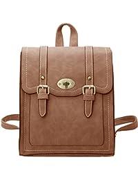 Gorgeous Fashion Vegan Leather Backpack Shoulder Bag For Women Black