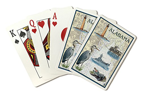 Alabama - Nautical Chart (Playing Card Deck - 52 Card Poker Size with Jokers) ()