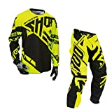 Shot Race Gear - Contact Raceway Neon Yellow Jersey/Pant Combo - Size - MEDIUM/30W