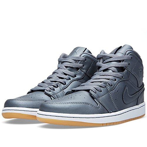 Jordan Mens Retro 1 Nouveau Cool Grey/White/Gum Light Brown/Cool 629151-007 9.5 (Air Jordan 1 Cool Grey)