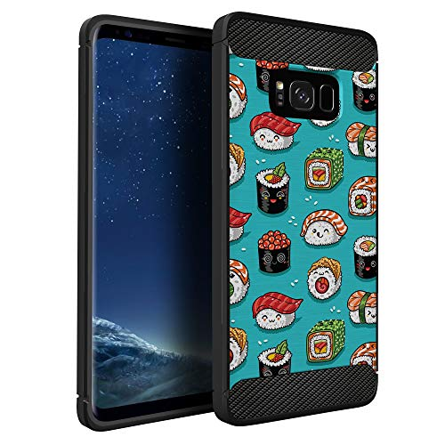 Price comparison product image CasesOnDeck Case Compatible with [Samsung Galaxy S8] Pictorial Patterned TPU Design Case Flexible Slim and Elegant (Sushi)