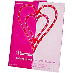 NEW VALENTINE'S DAY LIGHTED DOUBLE HEART