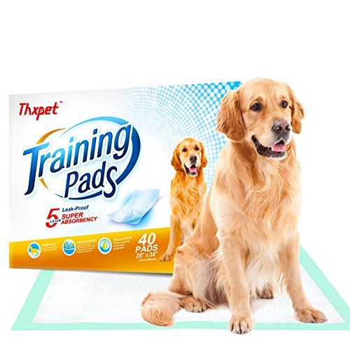Cheap Thxpet Pet Puppy Training Pads 40 Count 28″x34″ Dog Pee Potty Pad Wee Wee Pad Super Absorbent Leak Proof