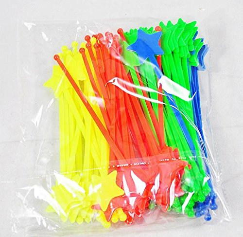 Kitz Cocktail Whisks Bar Supplies Star Stirring Rod Pearl Milk Tea Cocktail Picks Whisks Swizzle Stick 100Pcs/Lot
