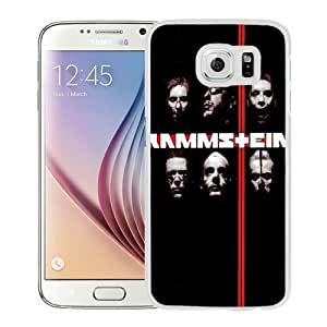 Fashionable Custom Designed S6 Phone Case With Rammstein Rock Band_White Phone Case