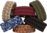 Paracord-Bracelet-By-Hippo-Survival-With-Black-Metal-Shackle-Made-Of-11-Military-Grade-550-lbs-Type-III-Paracord-Has-3-Adjustable-Sizes-Fits-Writs-65-to-75-Comfortably