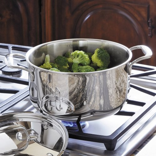 KitchenAid KCT60CSST Tri-Ply Stainless Steel 6-Quart Low Casserole with Lid Cookware - Stainless Steel