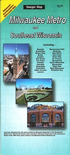 Milwaukee metro and Southeast Wisconsin by The Seeger Map Company Inc. - Shopping Milwaukee Mall