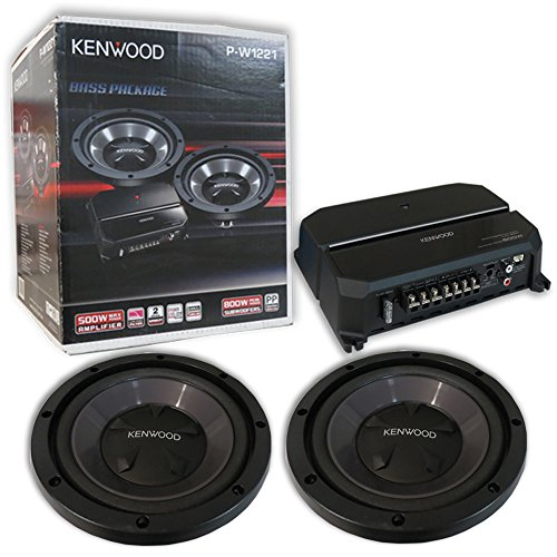 Kenwood P-W1221 Car audio Package includes KAC-5207 2-channel amplifier and Two KFC-W112S 12