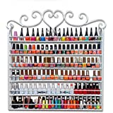 Dazone® Wall Mount 6 Tiers Nail Polish Rack Organizer Hold 120 Bottles Nail Polish Shelf White