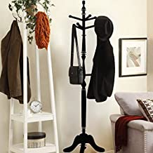 GECKOO Home Style Vinyl Lifesize Umbrella Stand Sticker Clothes Hanger Decal (Small,Black)