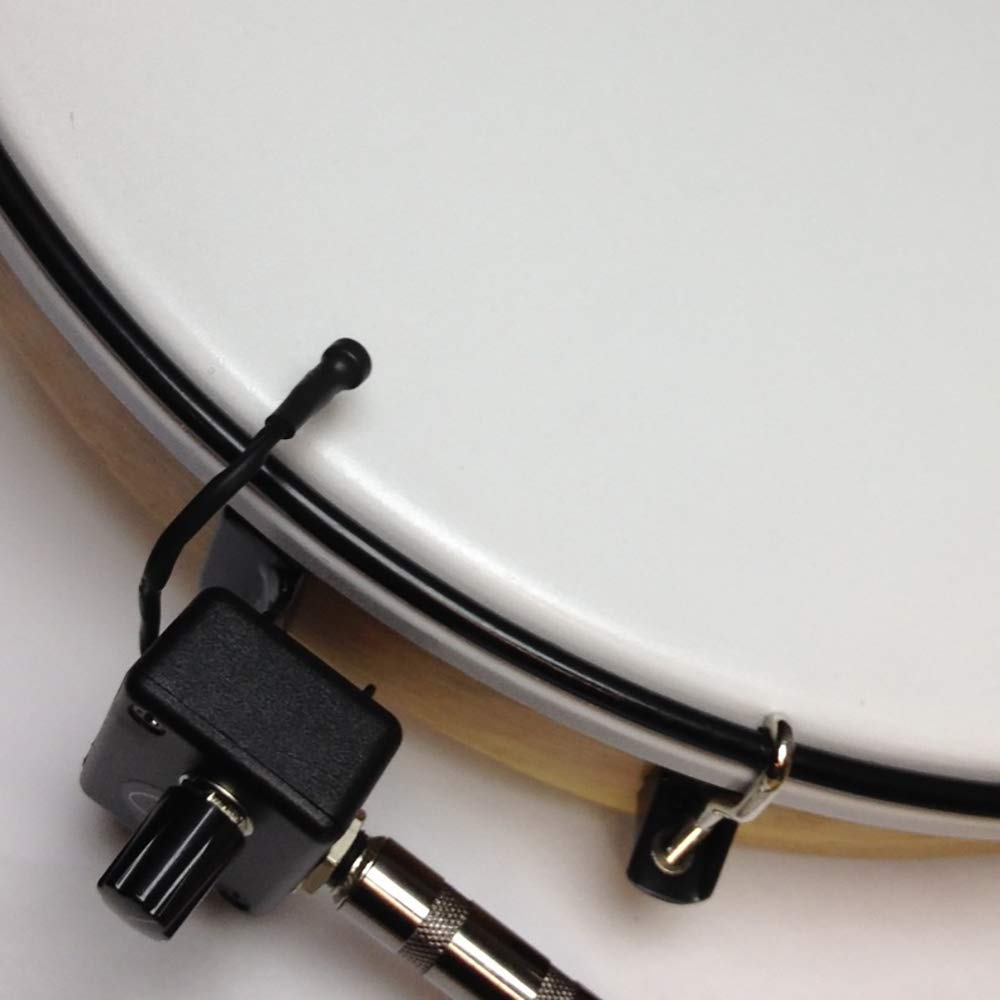 OAK FRAMED BODHRAN MICROPHONE with 6'' FLEXIBLE MICRO-GOOSE NECK by Myers Pickups ~ See it in ACTION! Copy and paste: myerspickups.com, Bodhran Microphone