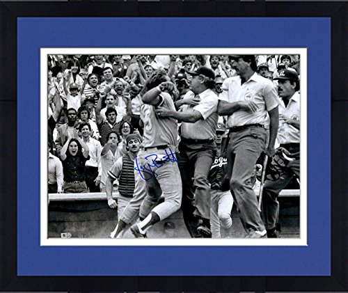 Framed George Brett Kansas City Royals Pine Tar Autographed 16