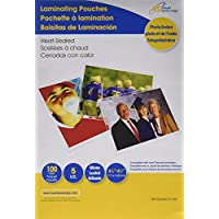 Royal Sovereign Heat Sealed Laminating Pouches 5 Mil 4 X 6 Photo/Index Card Size Clear Gloss (100 Pack) (RF054X6C0100)