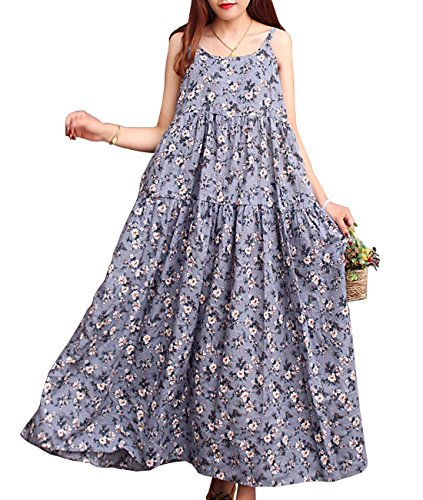 Plus Picture8 Art' 100 Cotton Pocket Oil Casual Painting Long F01 Maxi Baggy Dress as Size Women Lagenlook 'Pop YESNO Like E75 xqYzfOw1Rq