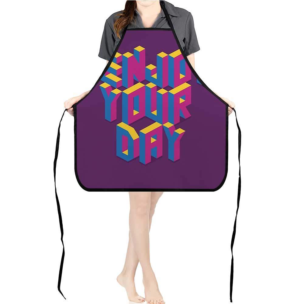 Jiahong パン 男女兼用 エプロン You Need Love 引用句 カラフル 水彩 スプラッシュバックグラウンド フクシア 調節可能なストラップポケット K17.7