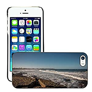 Hot Style Cell Phone PC Hard Case Cover // M00309595 Rocks Sea Landscape Summer Sky // Apple iPhone 5 5S 5G
