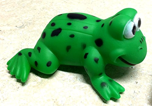ALAZCO Fun & Unique Green Frog Squeaky Dog Toy GREAT GIFT