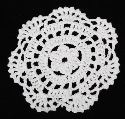 Factory Direct Craft® Package of 24 Hand Crocheted Round White Doilies - 100% Cotton