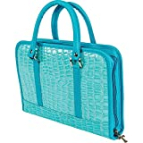 Gigi Chantal Turquoise Faux Alligator Bible Cover/ Purse