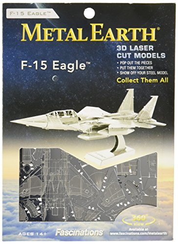6be1292a2d127 Fascinations Metal Earth Boeing F-15 Eagle Airplane 3D Metal Model Kit