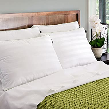 BioPEDIC 4-Pack Gusseted Bed Pillows with Built-In Ultra-Fresh Anti-Odor Technology, Standard Size, White