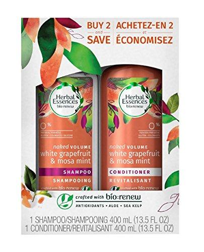 Clairol Herbal Essence Herbal Shampoo - Herbal Essences Bio Renew Naked Volume White Grapefruit & Mosa Mint Buy 2 and Save - 27 oz