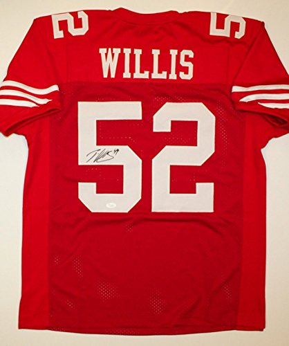 Patrick Willis Signed / Autographed Red Pro Style Jersey- JSA W Authenticated