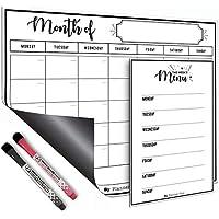 Magnetic Dry Erase Refrigerator Calendar 1 x Large Calendar Monthly Planner 1 x Menu Planner Whiteboard 2 x Markers…