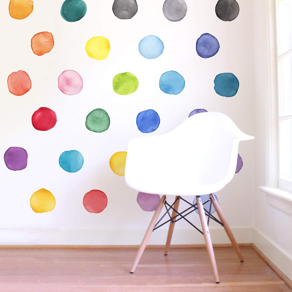 Mej Mej Re-positionable Fabric Wall Decals Color Story Collection-Large Rainbow Dots