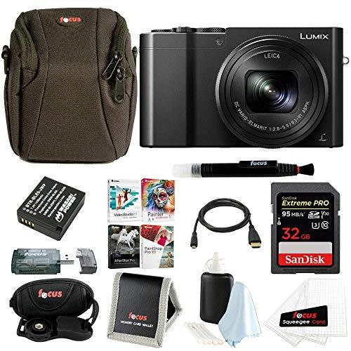 Panasonic Lumix DMC-ZS100 Digital Camera Bundles (Essentials Bundle, Black)