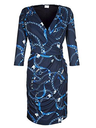 by Blau Kleid Damen Alba Hautfreundlich Moda exklusivem Print x4AqBHYBw