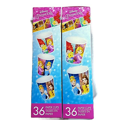 Disney Princess paper cup 2 pack - 36 count -
