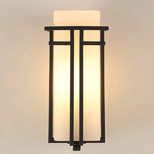 Mkjbd Linterna de Pared Lámpara de Jardín Lámpara de Pared Lámpara de Pared Americana Retro Lámparas de Pared para Exteriores Lámparas de Fachadas de Patio con Led Lámparas de Pasillo Pasillo Lámpara:
