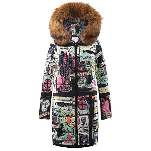 Limsea Womens Coat Quilted Jacket Outwear Parka Winter Long Down Cotton HoodedBrown X-Large