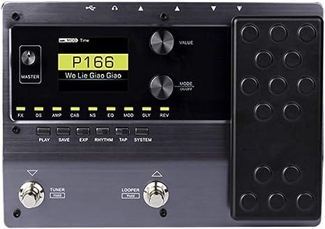 Procesador De Guitarra, 150 Digital Tube Amp Modeling Guitarra Procesador De Pedal Multiefectos 55 Modelos De Amplificador 9 Tipos De Efectos Grabación En Bucle (80s), 1 Piezas: Amazon.es: Instrumentos musicales