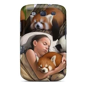 Zheng caseFashion LQiMkNm1787GCmiT Case Cover For Galaxy S3(sleep Baby Girl Animals)