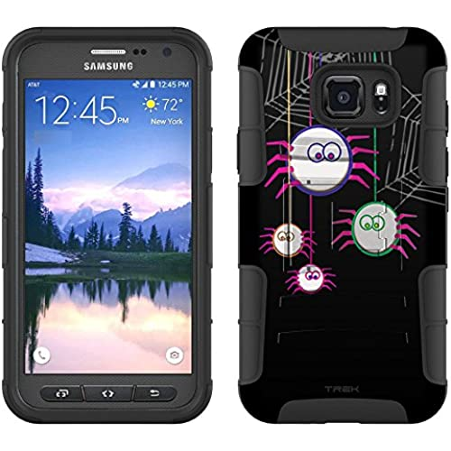 Samsung Galaxy S7 Active Armor Hybrid Case Cute Spiders on Black 2 Piece Case with Holster for Samsung Galaxy Sales