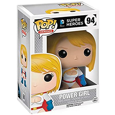 Funko Pop! DC Heroes: Power Girl #94 Vinyl Figure (Includes Compatible Pop Box Protector Case): Toys & Games