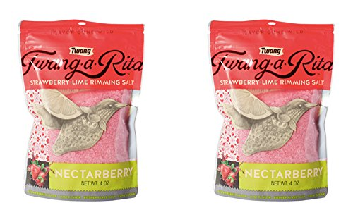 Twang-a-Rita Rimming Salt Varieties - 4 ounce pouch - (2 pack) (Nectarberry (Strawberry))