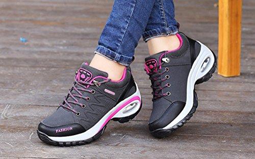 damas para correr Zapatos al Zapatos Huaihsu para desgaste Deportivos mujer de Black Senderismo para deportivos resistentes Antideslizante Zapatillas montaña 6THqaTR
