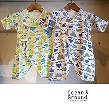 93e9c3ecf6e6d OCEAN GROUND(オーシャンアンドグラウンド) コンビ肌着 CLOUD CLOUD (60) 60cm