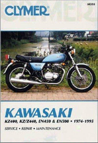 M355 Kawasaki KZ400 KZ Z440 EN450 EN500 Motorcycle Repair Manual 1974-1995 Clymer (Kawasaki En500 Manual)