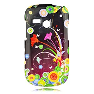 Talon Phone Case for LG UN200 Saber - Flower Art - US Cellular - 1 Pack - Case - Retail Packaging - Black, Green, and Yellow