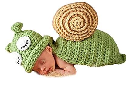 AKAAYUKO Bebé Recién Nacido Hecho A Mano Crochet Foto Fotografía Prop (Verde Caracol) grprops-130